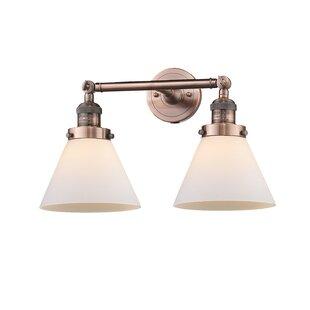 Omorphita 2 Light Glass Cone Wall Sconce