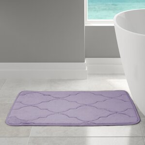 Light Yellow Bathroom Rugs purple bath rugs & mats you'll love | wayfair