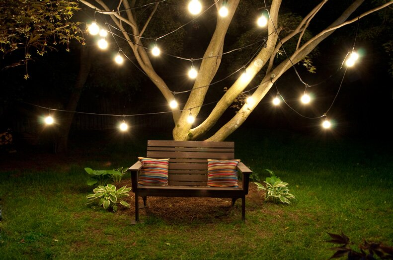 15 Light Commercial Grade Outdoor Weatherproof String Lights
