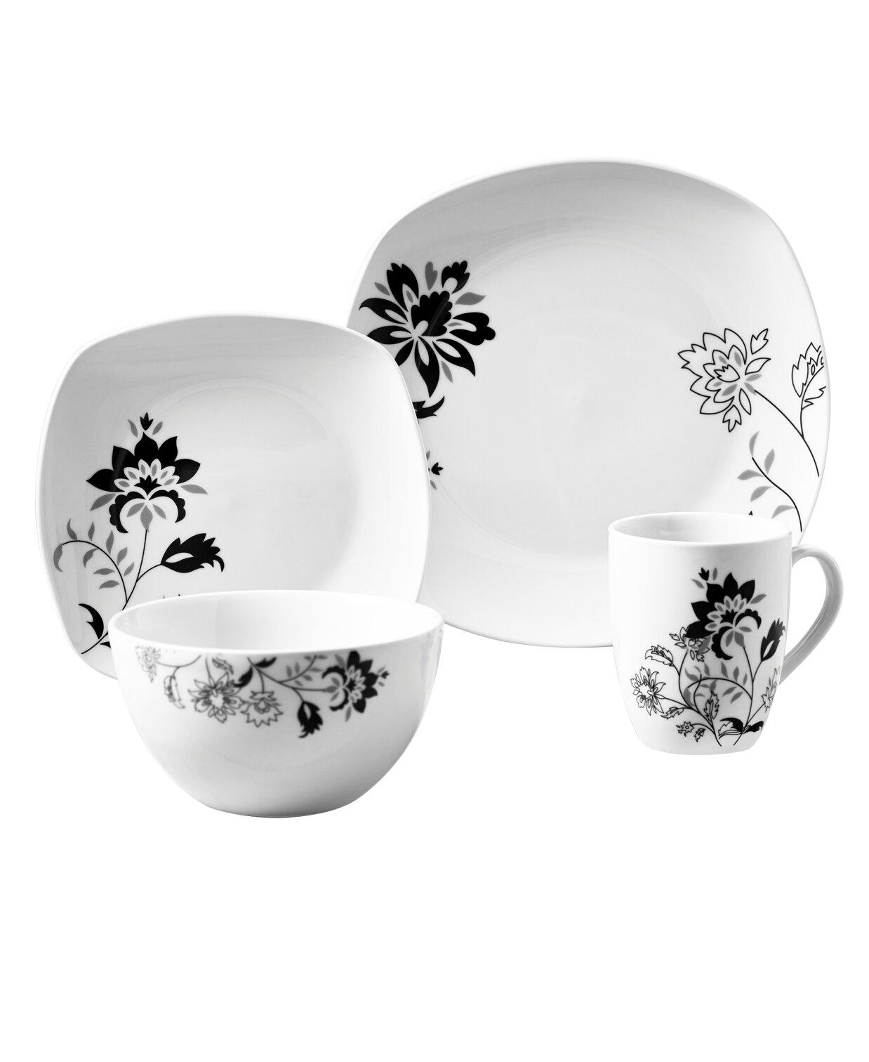 Tabletops Gallery Rebecca 16 Piece Dinnerware Set, Service For 4 U0026 Reviews  | Wayfair