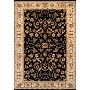 Newburg Wool Black Rug by Three Posts