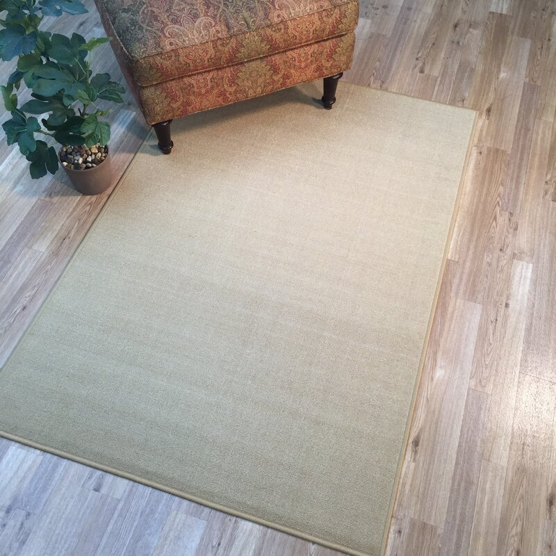 Harland Maxy Home Solid Single Plain Ivory Area Rug