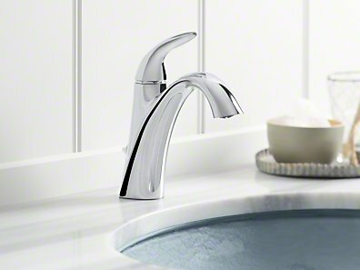 alteo single handle bathroom sink faucet with optional pop up drain assembly - Single Handle Bathroom Faucet