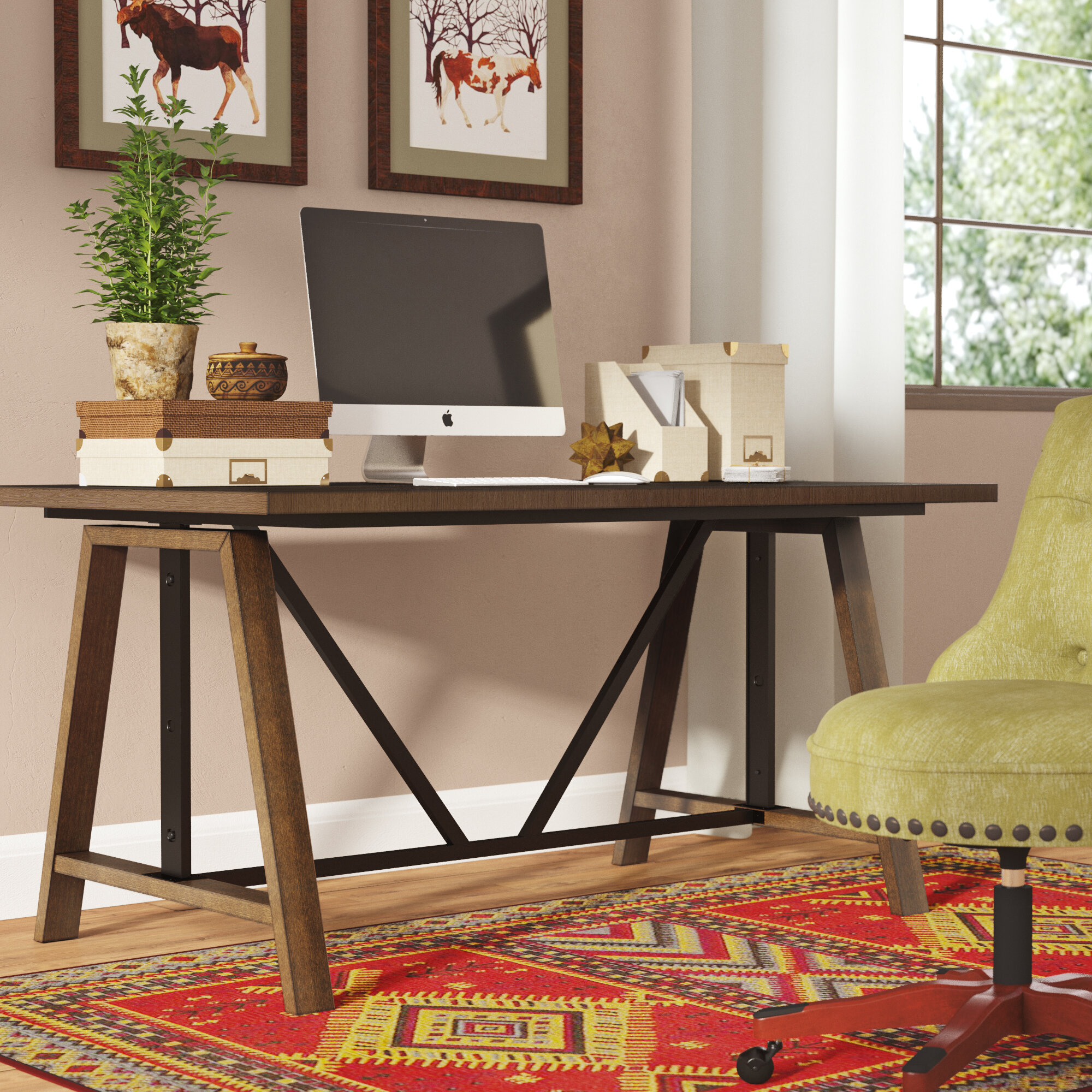 Cool Ailith Height Adjustable Computer Desk Ibusinesslaw Wood Chair Design Ideas Ibusinesslaworg
