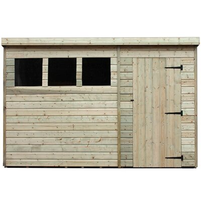 10 ft w x 3 ft d wooden lean to shed - Garden Sheds 7 X 3