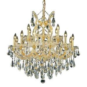Regina 19-Light Chain Crystal Chandelier