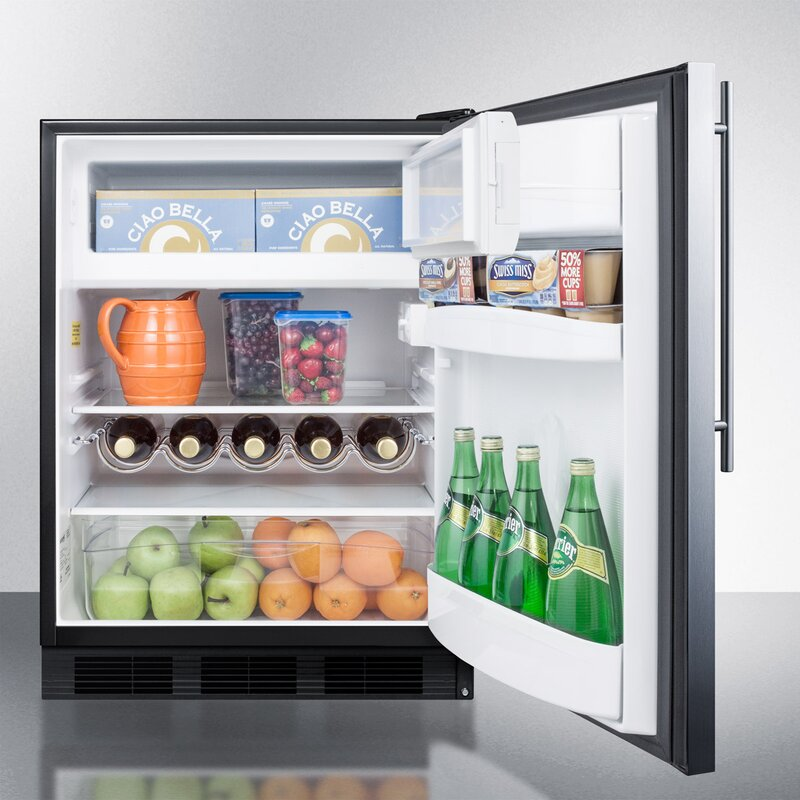 Summit Built In 24 Inch 5 1 Cu Ft Convertible Undercounter Refrigerator With