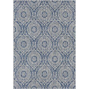 ca80888e5 Summey Floral and Plants Denim Indoor Outdoor Area Rug
