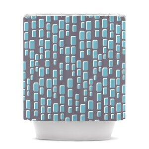 Cubic Geek Chic Shower Curtain