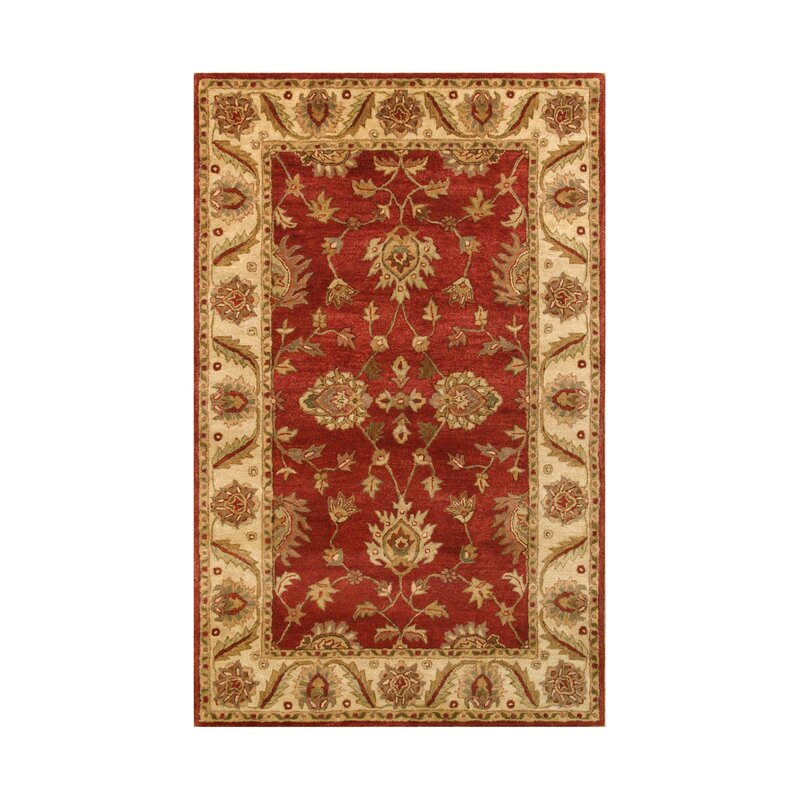 Noble House Golden Red Gold Area Rug Wayfair