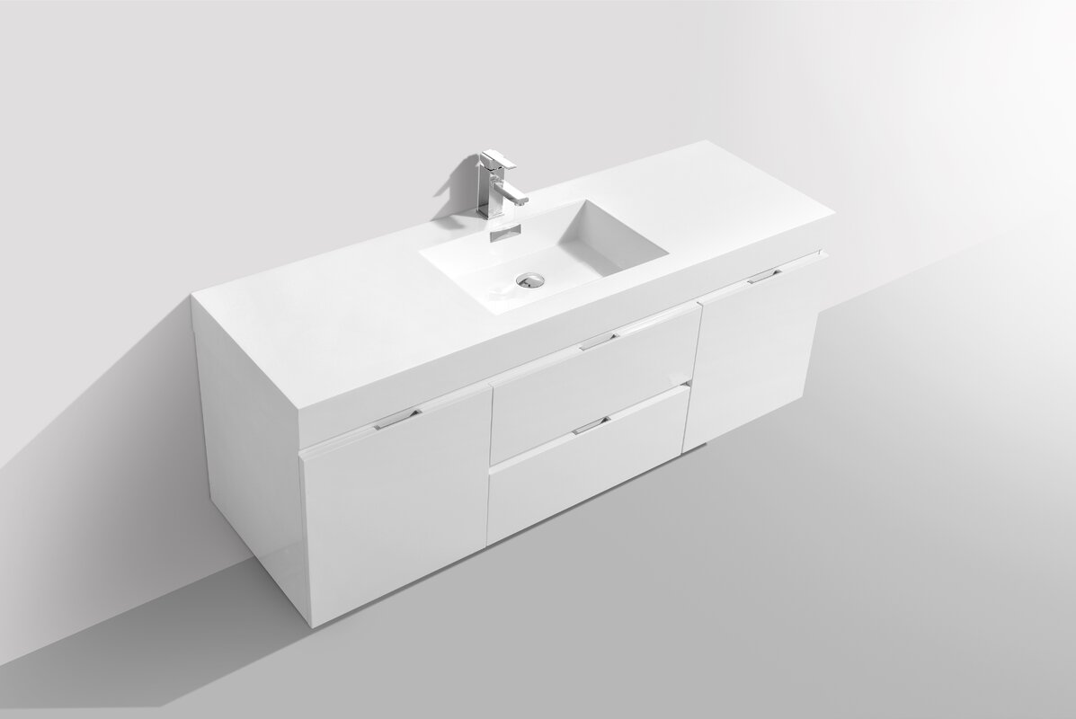Wade Logan Tenafly 60 Quot Single Wall Mount Modern Bathroom