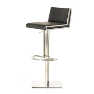 Clower Adjustable Height Upholstered Swivel Bar Stool by Orren Ellis