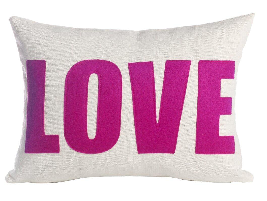 Throw Pillow Love : Alexandra Ferguson Love Throw Pillow & Reviews Wayfair