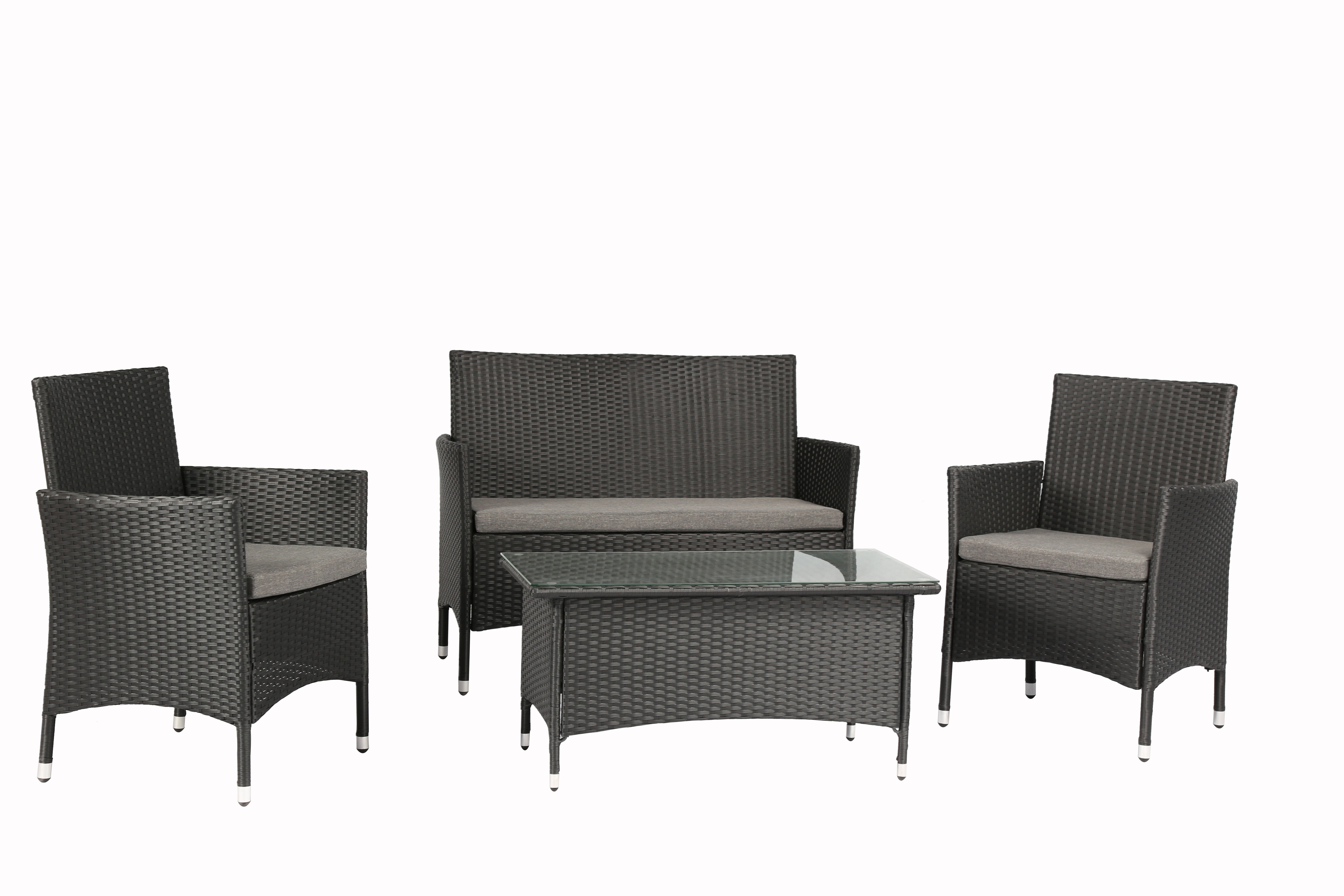 56cabf6432f Baner Garden 4 Piece Sofa Set with Cushions   Reviews