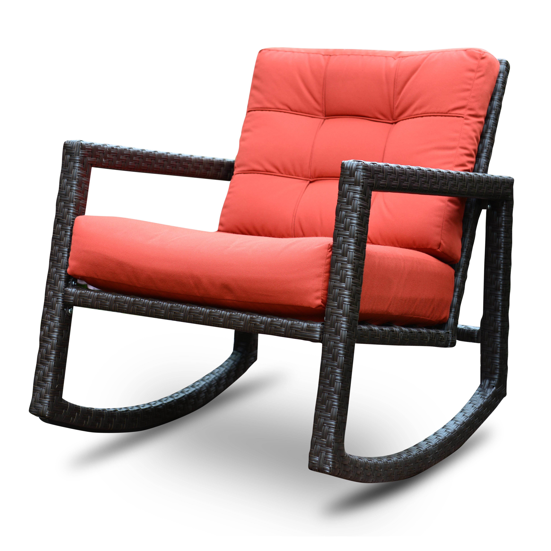 Exceptionnel Algoma Net Company Aura Sunbrella Rattan Rocking Chair With Cushions U0026  Reviews | Wayfair