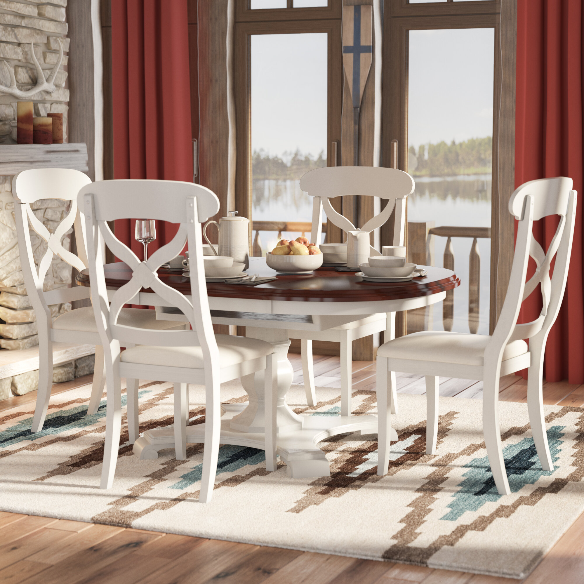 Superieur Aponte Butterfly Leaf 5 Piece Dining Set