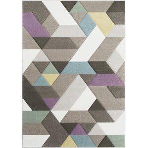 mott street modern geometric carved graypurple area rug