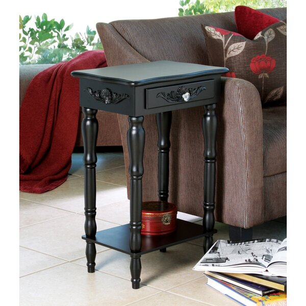 Charlton home isabella carved end table with storage for Storage charlton