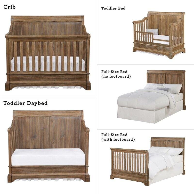 Pembrooke 5 In 1 Convertible 2 Piece Crib Set