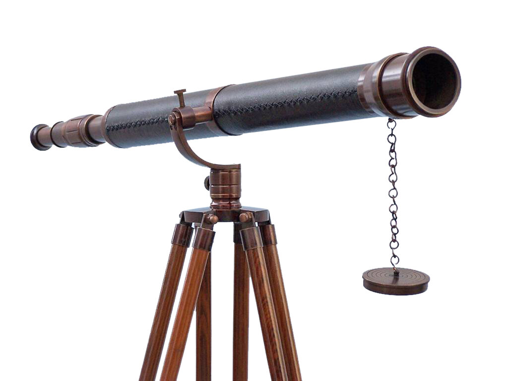 Improvised refracting telescope