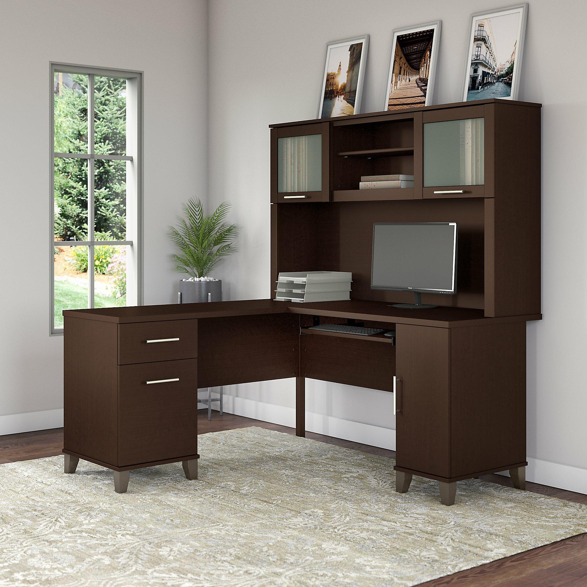 Latitude Run Kittle Somerset L Shaped Executive Desk With Hutch U0026 Reviews |  Wayfair