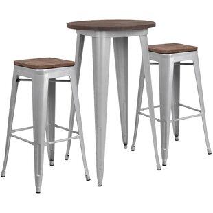 Prinsburg 3 Piece Pub Table Set