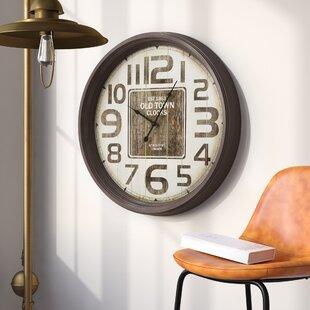 24 Inch White Wall Clock Wayfair