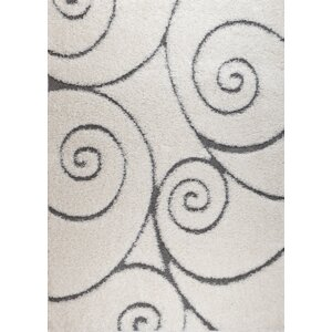 Quaoar White Swirl Area Rug