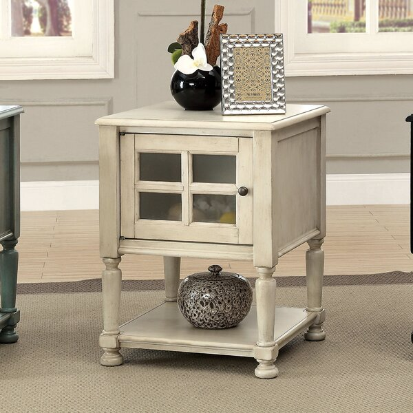 Letellier End Table With Storage Amp Reviews Birch Lane