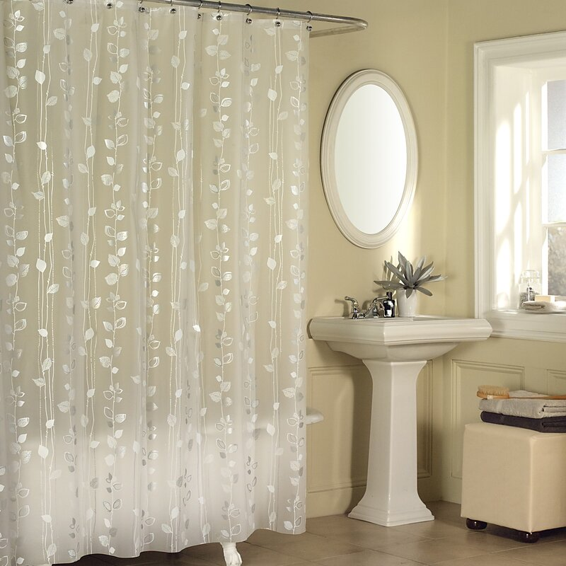 Andover Mills Temples Ivy Vinyl Shower Curtain & Reviews | Wayfair