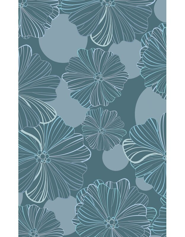Highland Dunes Caitlynn Oversized Flowers Blue/Green Area Rug, Size: Rectangle 76 x 10