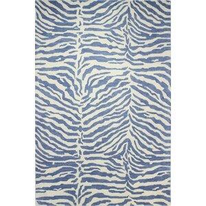 Abhay Hand-Tufted Blue Area Rug