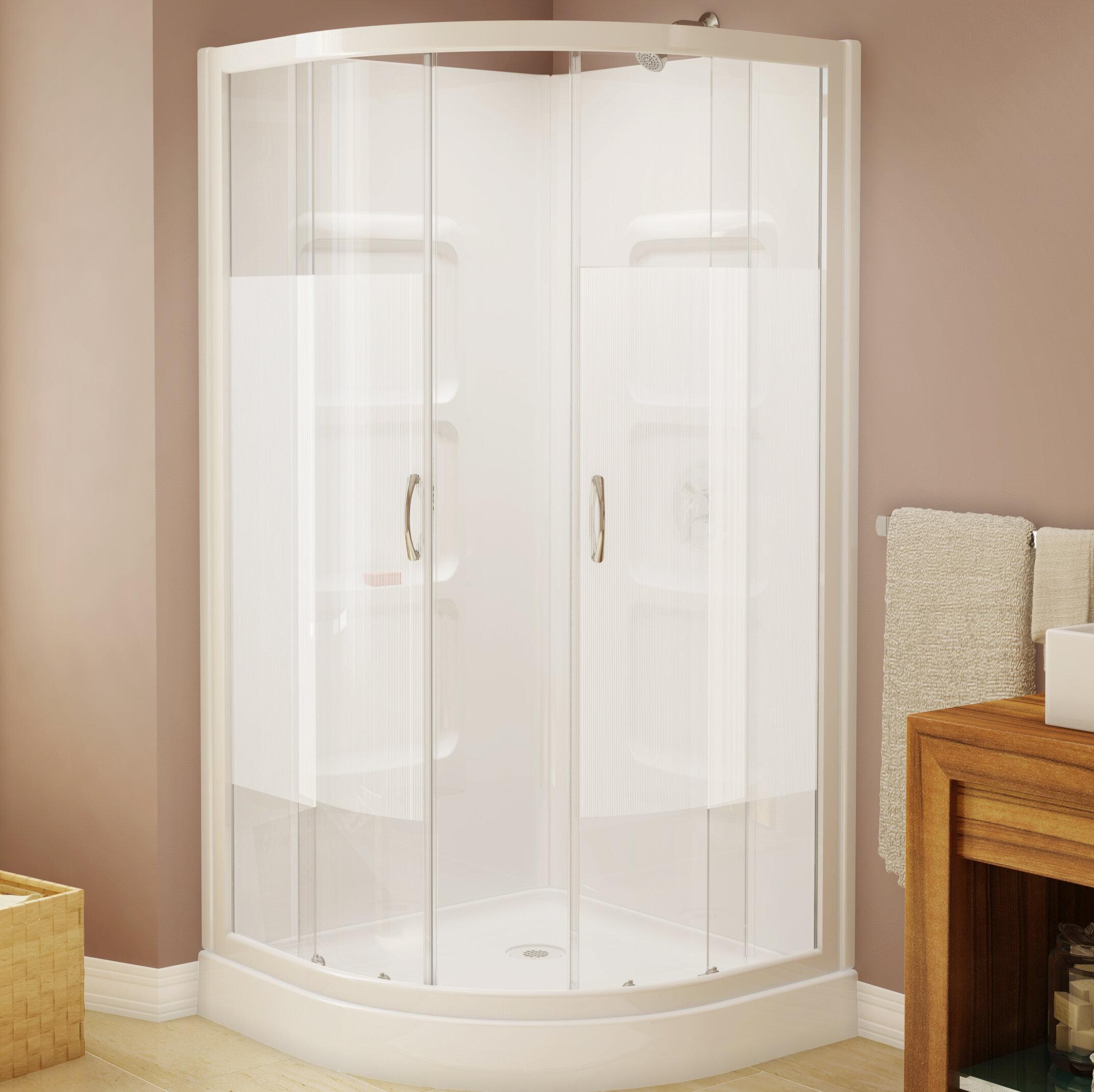 Ae Bath And Shower Mona 375 X 74 Neo Angle Sliding Shower