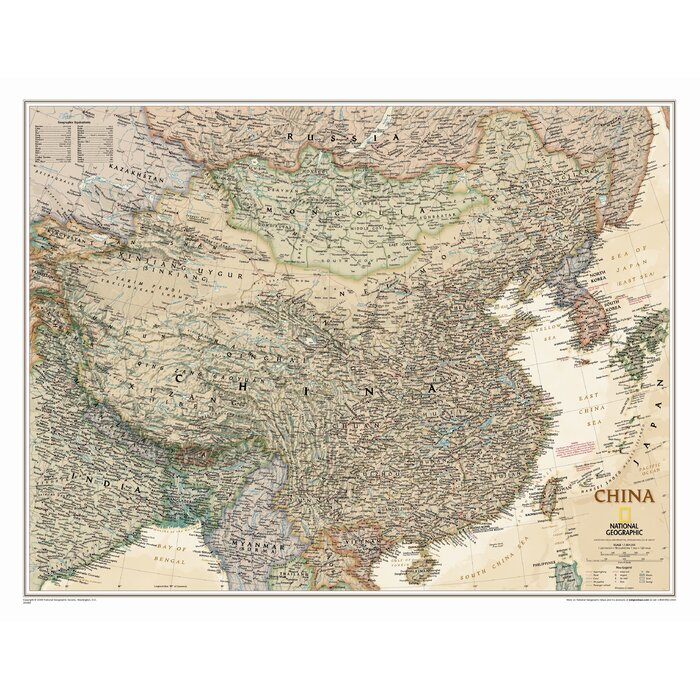 National geographic maps china executive wall map reviews china executive wall map gumiabroncs Choice Image