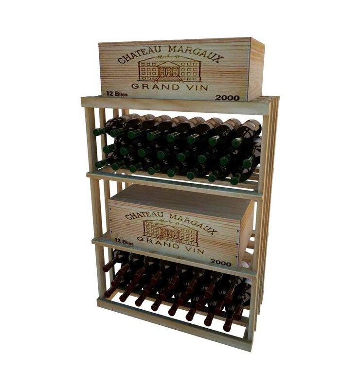 Wine Cellar Light Fixtures: Wine Cellar 1 Column Rectangular 48 Bottle Floor Wine Rack