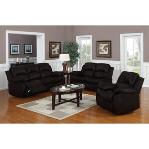 Classic 3 Piece Leather Living Room Set by Madison Home USA