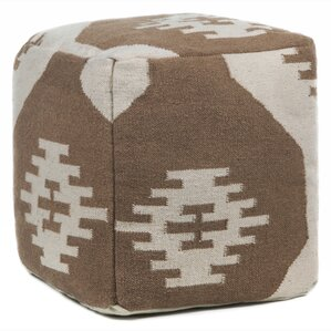 Foundry Select America Textured Contemporary Pouf Ottoman