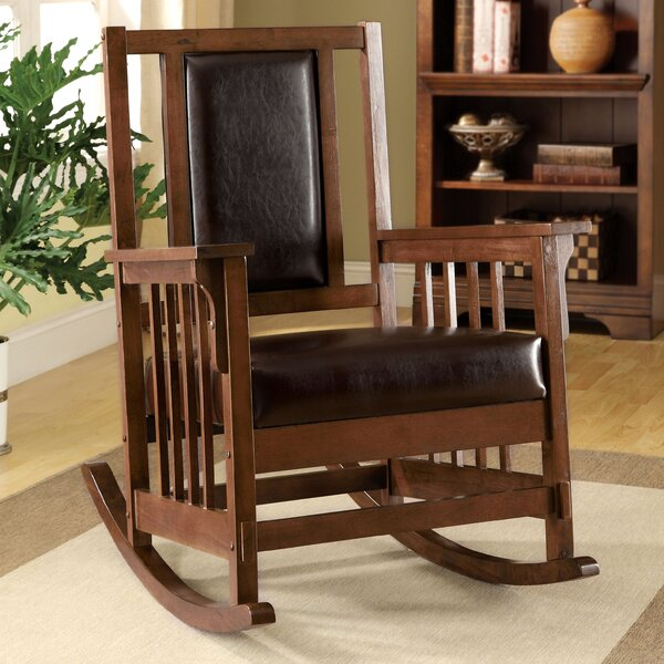 Hokku Designs Valley Leatherette Arm Rocking Chair ...