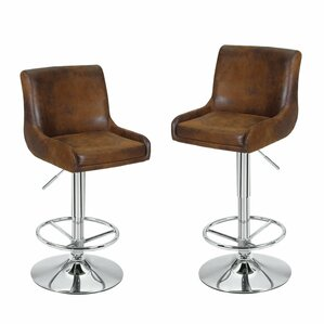 Adjustable Height Swivel Bar Stool (Set of 2)  sc 1 st  AllModern & Modern Leather Bar Stools + Counter Stools | AllModern islam-shia.org