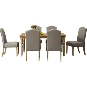 Habitanian Solid Wood 7 Piece Dining Set ..