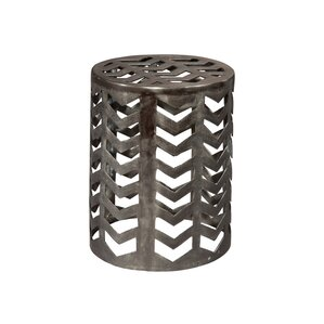 Aluminum Drum End Table by Hekman