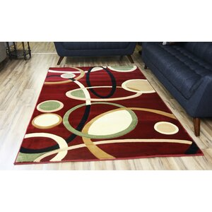 Rosa Red/Beige Area Rug