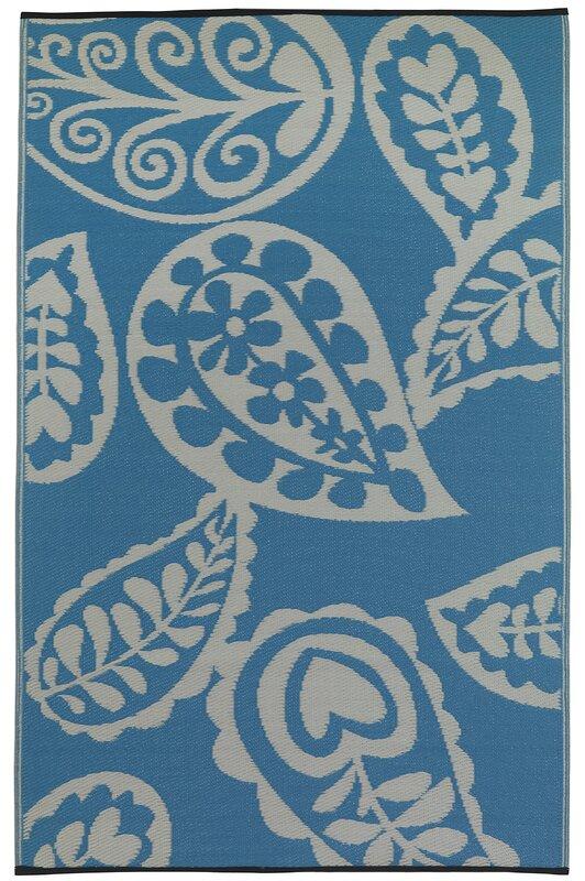 fab habitat paisley river world blue white indoor. Black Bedroom Furniture Sets. Home Design Ideas