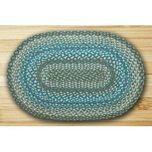 Oval Braided Sage/Ivory Area Rug