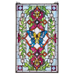 Butterfly Utopia Tiffany Style Stained Glass Window