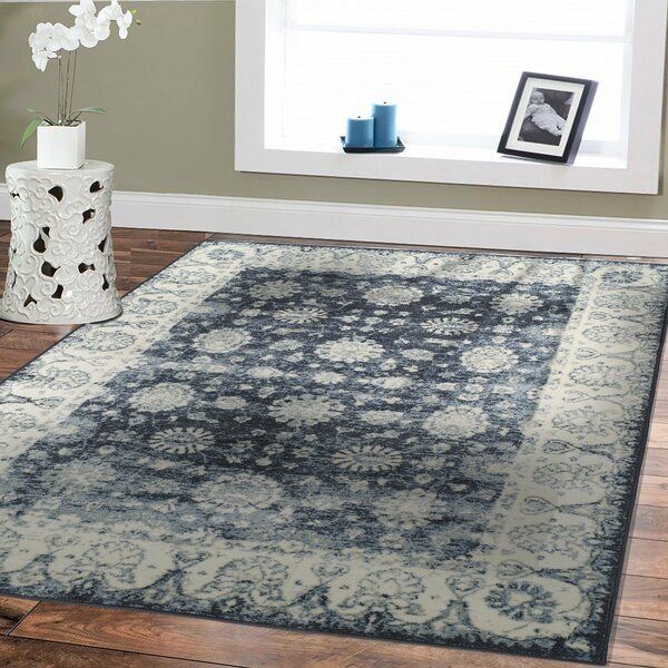 bloomsbury market modern grey entrance rug washable