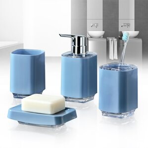 infinity 4piece bathroom accessory set