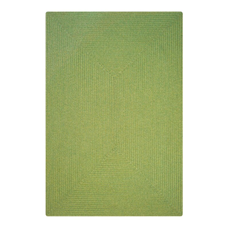 """Newt Hand-Braided Sage Indoor/Outdoor Area Rug Rug Size: Oval 2'3"""" x 3'0.75"""" -  August Grove"""