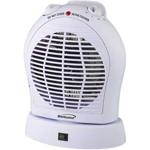 Oscillating 2,000 Watt Electric Fan Compact Heater