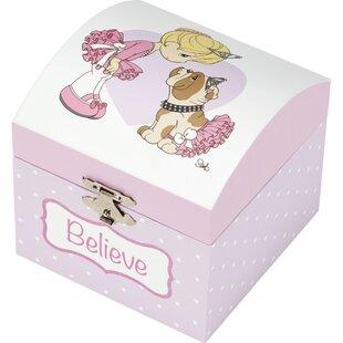 edd972fa44fc18 Precious Moments Believe Ballerina Wood Musical Jewellery Box 185095